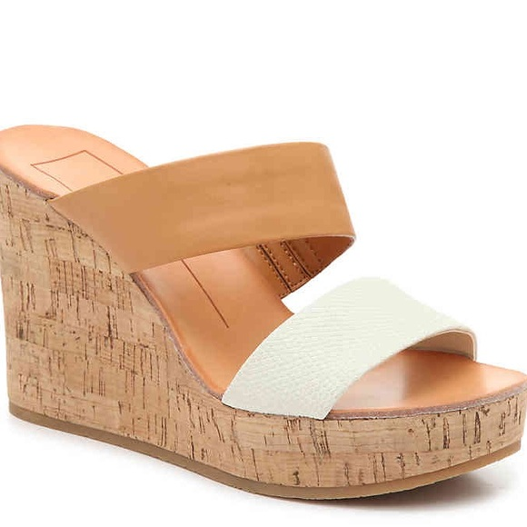 f5c9aecb3ddb Dolce Vita Shoes - Dolce Vita Porcia Wedge in Cognac Ivory